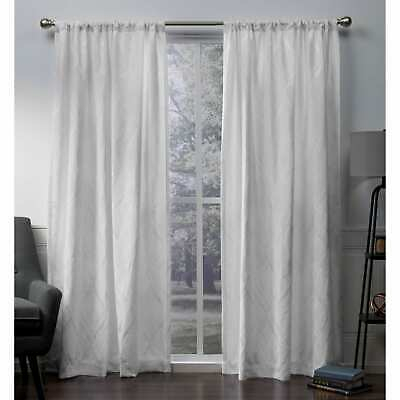 Ati Home Elena Chenille Rod Pocket Top Curtain Panel Pair Pertaining To Tassels Applique Sheer Rod Pocket Top Curtain Panel Pairs (View 4 of 45)