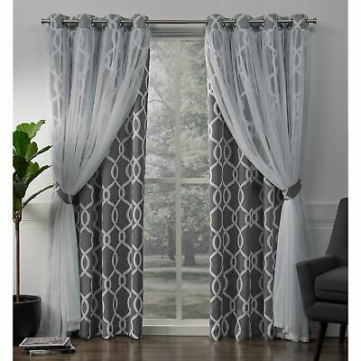 Ati Home Indoor/outdoor Solid Grommet Top Curtain Panel Pair Within Twig Insulated Blackout Curtain Panel Pairs With Grommet Top (#9 of 50)