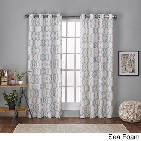 Ati Home Kochi Linen Blend Grommet Top Curtain Panel Pair Inside Kochi Linen Blend Window Grommet Top Curtain Panel Pairs (View 4 of 36)