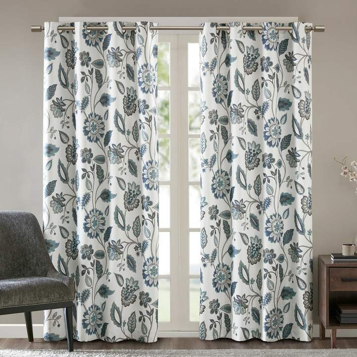 Ati Home Kochi Linen Blend Window Grommet Top Curtain Panel With Primebeau Geometric Pattern Blackout Curtain Pairs (#3 of 38)