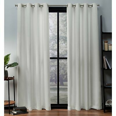 Ati Home Oxford Sateen Woven Blackout Grommet Top Curtain | Ebay With Easton Thermal Woven Blackout Grommet Top Curtain Panel Pairs (#6 of 44)