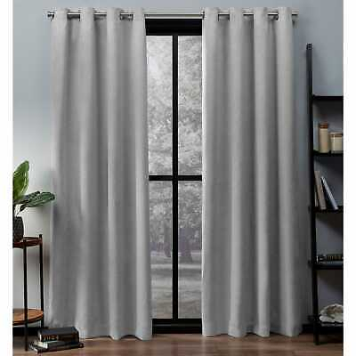 Ati Home Oxford Sateen Woven Blackout Grommet Top Curtain | Ebay With Easton Thermal Woven Blackout Grommet Top Curtain Panel Pairs (#5 of 44)