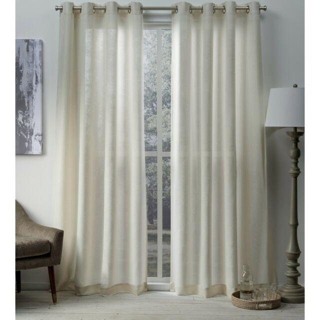 Ati Home Sparkles Metallic Grommet Top Curtain Panel Pair With Regard To Indoor/outdoor Solid Cabana Grommet Top Curtain Panel Pairs (#7 of 48)