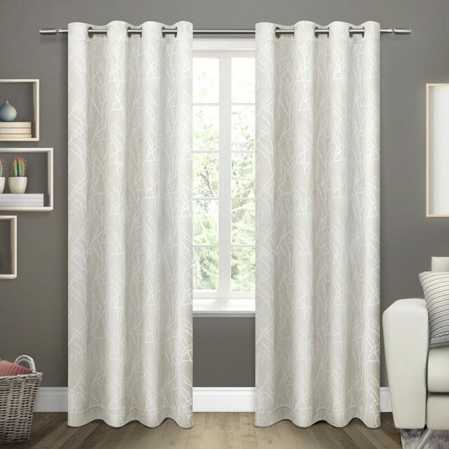 Ati Home Twig Insulated Woven Blackout Window Curtain Panel Pair (Taupe) Wm9 M01 With Regard To Sateen Woven Blackout Curtain Panel Pairs With Pinch Pleat Top (View 27 of 40)