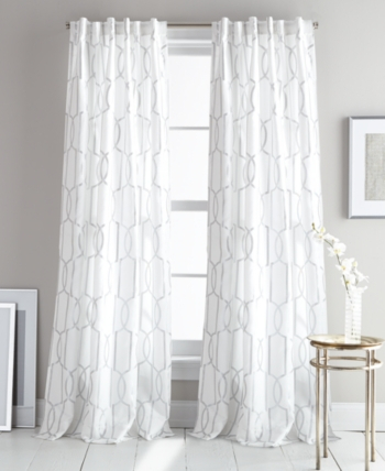 Atrium Metallic Print Faux Suede 50 X 84 Pair Of Window In Vina Sheer Bird Single Curtain Panels (View 7 of 38)
