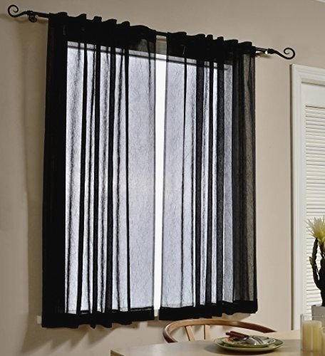 Attractive Crinkle Sheer Curtains – 63.141. (View 2 of 46)
