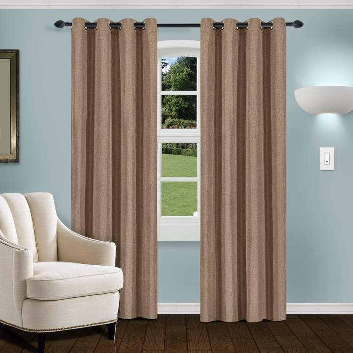 August Grove Arignote Solid Blackout Thermal Grommet Panel Regarding Solid Insulated Thermal Blackout Long Length Curtain Panel Pairs (View 16 of 50)