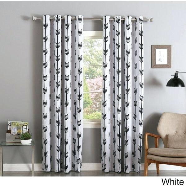 Aurora Home Curtains – Curtone Regarding Star Punch Tulle Overlay Blackout Curtain Panel Pairs (#5 of 50)