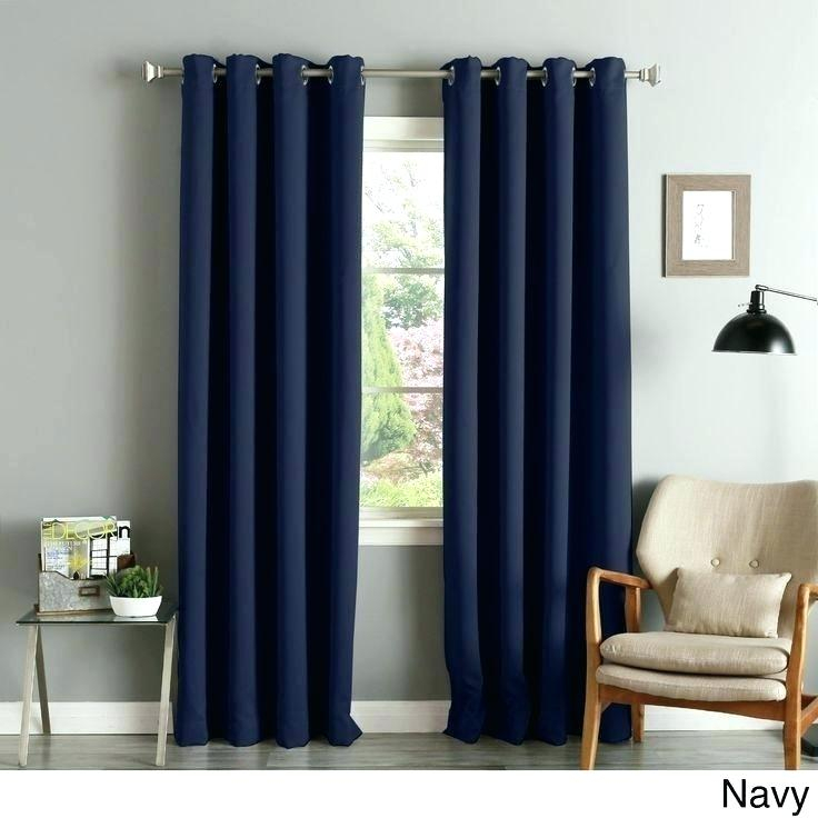 Aurora Home Curtains – Eminsakir In Star Punch Tulle Overlay Blackout Curtain Panel Pairs (#6 of 50)