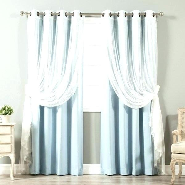 Aurora Home Curtains – Evb Nummer Inside Star Punch Tulle Overlay Blackout Curtain Panel Pairs (#7 of 50)