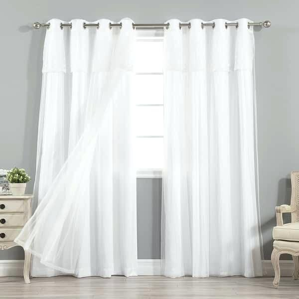 Aurora Home Curtains – Zagaasportsfoundation Within Mix And Match Blackout Tulle Lace Sheer Curtain Panel Sets (#9 of 50)
