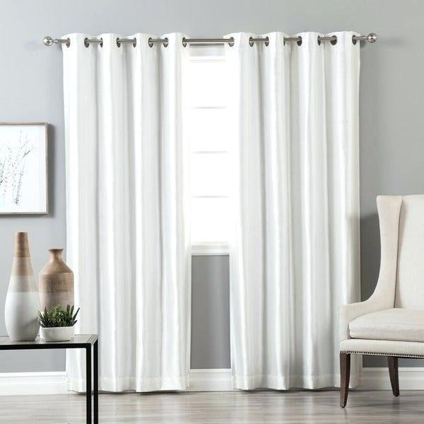 Aurora Home Grommet Top Faux Silk Blackout Curtain Panel With Regard To Raw Silk Thermal Insulated Grommet Top Curtain Panel Pairs (#8 of 46)