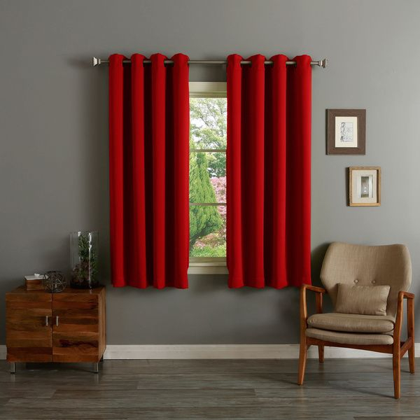 Popular Photo of Silvertone Grommet Thermal Insulated Blackout Curtain Panel Pairs