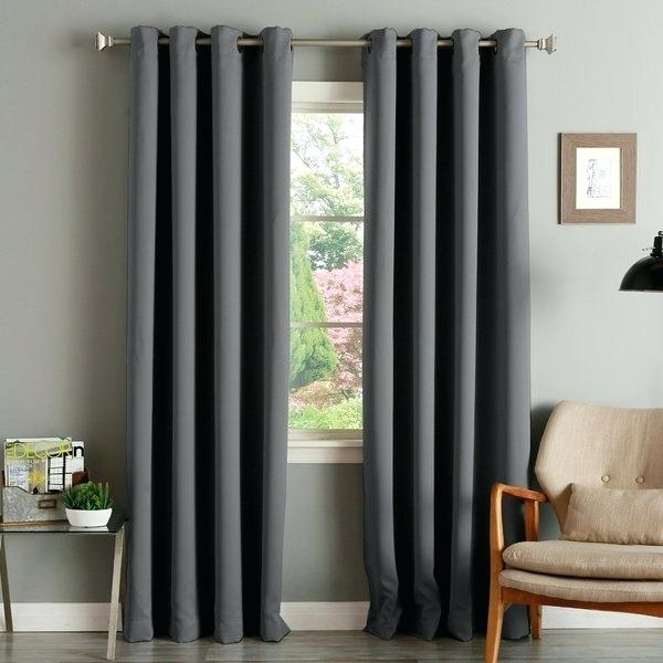 Aurora Home Insulated Thermal Blackout 84 Inch Curtain Panel In Insulated Grommet Blackout Curtain Panel Pairs (View 9 of 50)