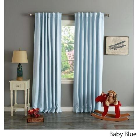 Aurora Home Insulated Thermal Blackout 84 Inch Curtain Panel With Regard To Solid Insulated Thermal Blackout Curtain Panel Pairs (View 13 of 50)