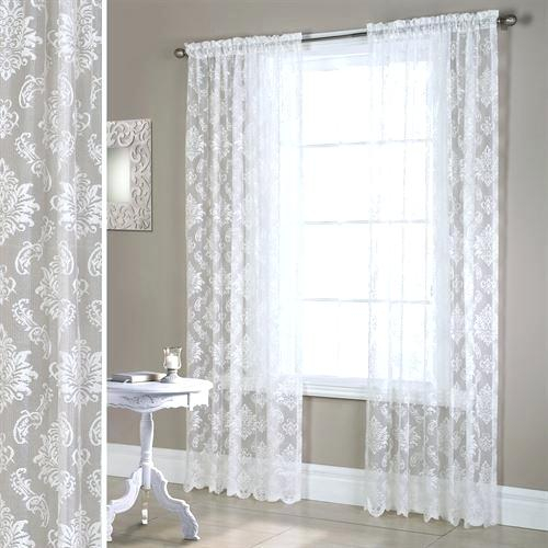 Aurora Home Mix Match Blackout Tulle Lace Bronze Grommet 4 With Regard To Mix & Match Blackout Tulle Lace Bronze Grommet Curtain Panel Sets (View 43 of 50)