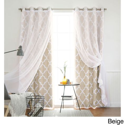 Aurora Home Mix & Match Curtains Moroccan Room Darkening And With Regard To Luxury Collection Summit Sheer Curtain Panel Pairs (#4 of 50)
