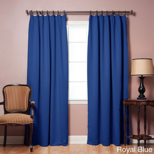 Aurora Home Pleated 84 Inch Blackout Curtain Panel Pair Intended For Abstract Blackout Curtain Panel Pairs (#7 of 46)