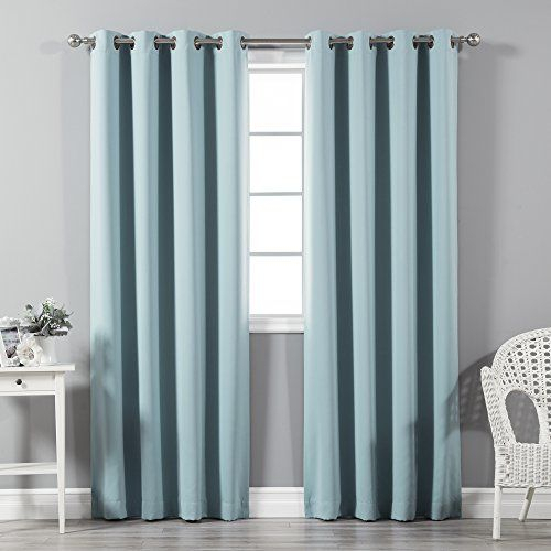 Aurora Home Silvertone Grommet Top Thermal Insulated Throughout Silvertone Grommet Thermal Insulated Blackout Curtain Panel Pairs (#5 of 35)