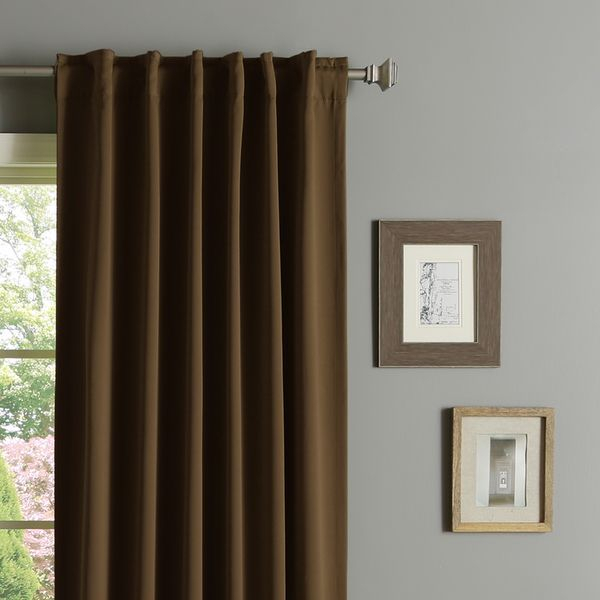 Aurora Home Solid Insulated Thermal 63 Inch Blackout Curtain Inside Solid Insulated Thermal Blackout Curtain Panel Pairs (View 10 of 50)