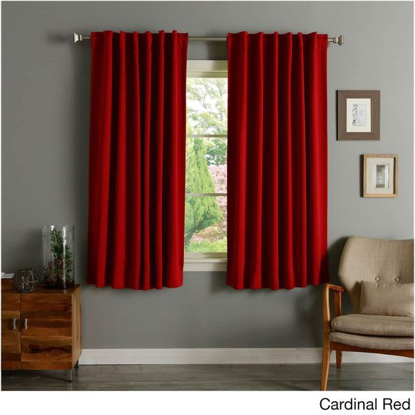 Popular Photo of Solid Thermal Insulated Blackout Curtain Panel Pairs
