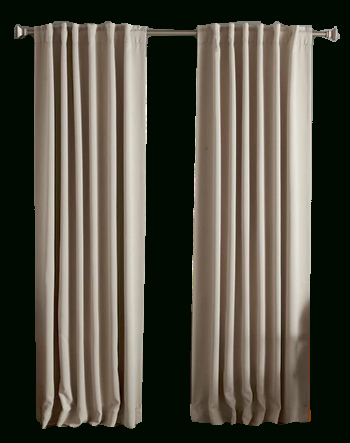 "Aurora Home Solid Insulated Thermal Blackout Curtain Panel Pair | Biscuit  120"" In Insulated Thermal Blackout Curtain Panel Pairs (#12 of 50)"