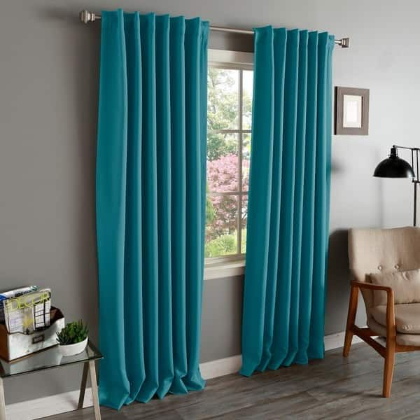 Aurora Home Solid Insulated Thermal Blackout Curtain Panel Regarding Solid Insulated Thermal Blackout Curtain Panel Pairs (View 35 of 50)