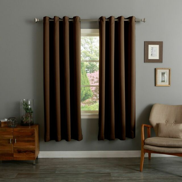 Aurora Home Thermal Insulated 72 Inch Blackout Curtain Pair Within Insulated Grommet Blackout Curtain Panel Pairs (View 10 of 50)