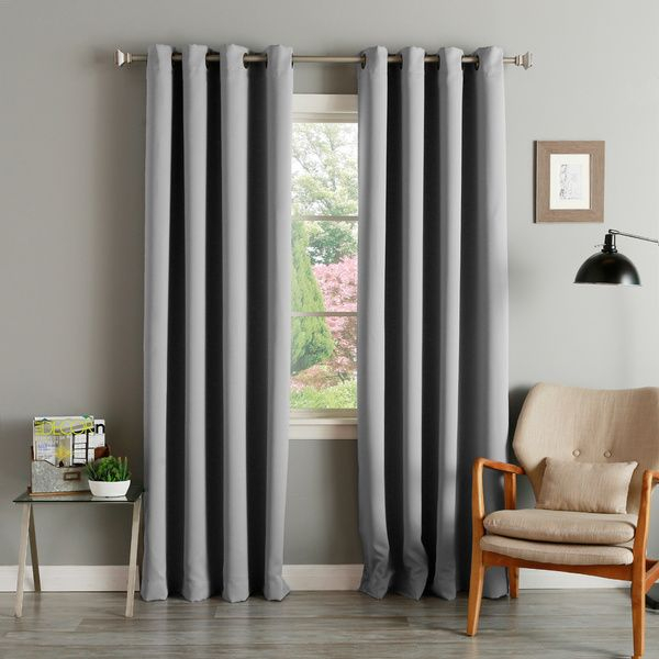 Aurora Home Thermal Insulated Blackout Grommet Top Curtain For Solid Insulated Thermal Blackout Long Length Curtain Panel Pairs (View 10 of 50)