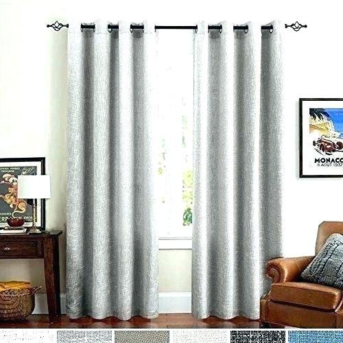 Aurora Home Thermal Insulated Blackout Grommet Top Curtain Pertaining To Antique Silver Grommet Top Thermal Insulated Blackout Curtain Panel Pairs (View 11 of 40)