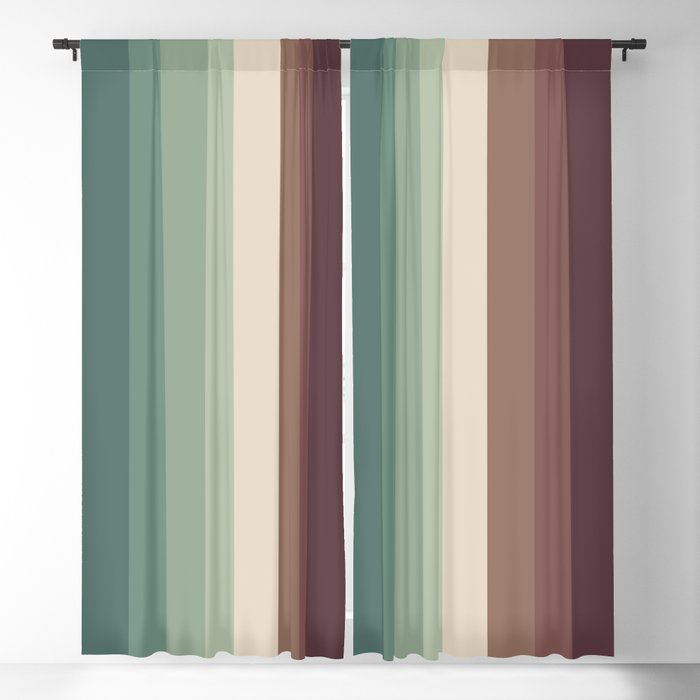 Autumn Season Color Pattern – Striped Fall Colors Blackout Curtain Ohaniki Pertaining To All Seasons Blackout Window Curtains (View 10 of 48)