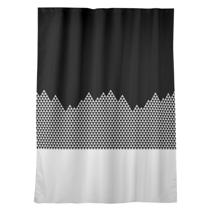 Avicia Mountain Window Geometric Room Darkening Thermal Rod Pocket Single Curtain Panel Within Sateen Twill Weave Insulated Blackout Window Curtain Panel Pairs (View 26 of 29)