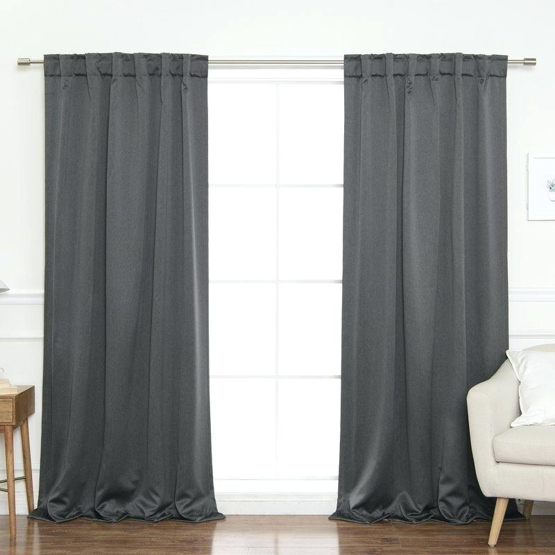 Back Tab Curtains Pertaining To Solid Cotton True Blackout Curtain Panels (View 47 of 50)
