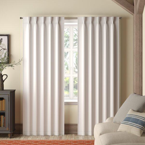 Back Tab Curtains | Wayfair Regarding Elegant Comfort Luxury Penelopie Jacquard Window Curtain Panel Pairs (View 6 of 50)
