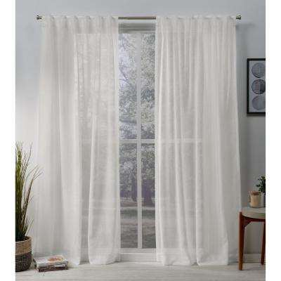 Back Tab – Exclusive Home Curtains – Curtains & Drapes Inside Tab Top Sheer Single Curtain Panels (#3 of 50)