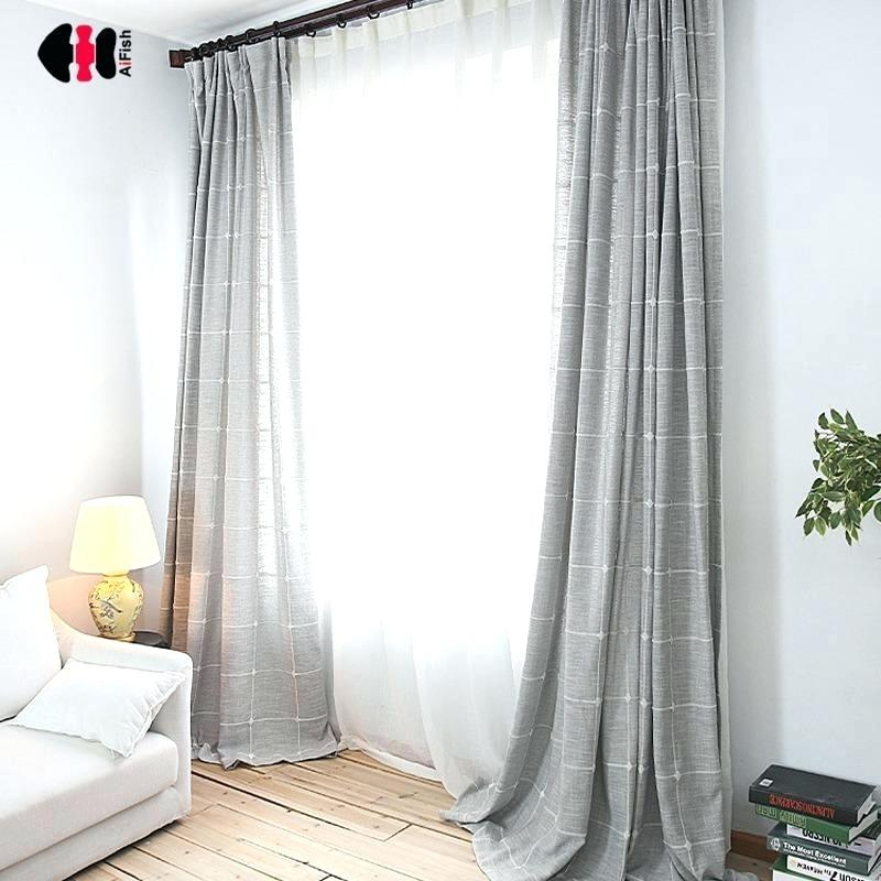 Back Tab Linen Curtains Drapes Curtain Panels Bed Bath And Inside Solid Country Cotton Linen Weave Curtain Panels (#2 of 50)