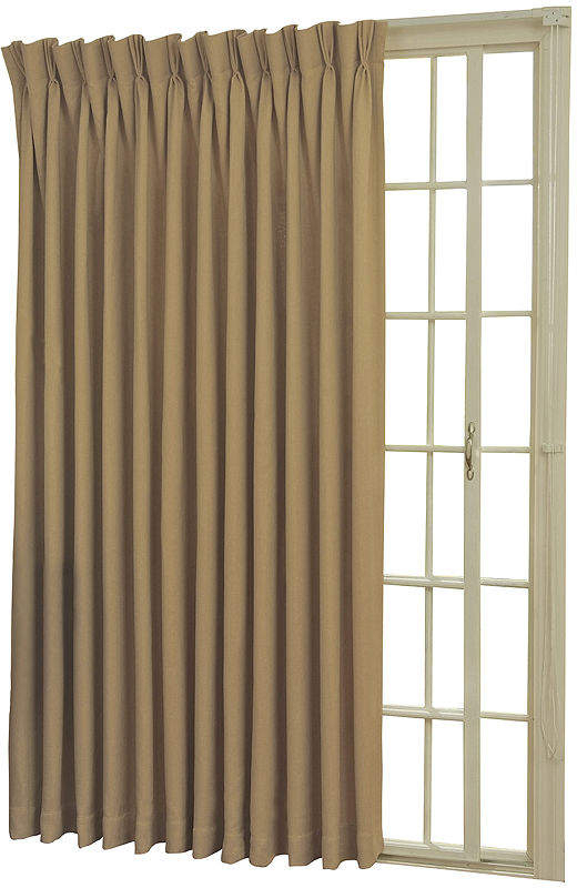 Back Tab/pinch Pleat Thermal Blackout Patio Door Curtain Panel Within Eclipse Newport Blackout Curtain Panels (View 2 of 41)