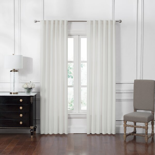 Back Tab White Sheer Curtains | Wayfair (View 2 of 36)
