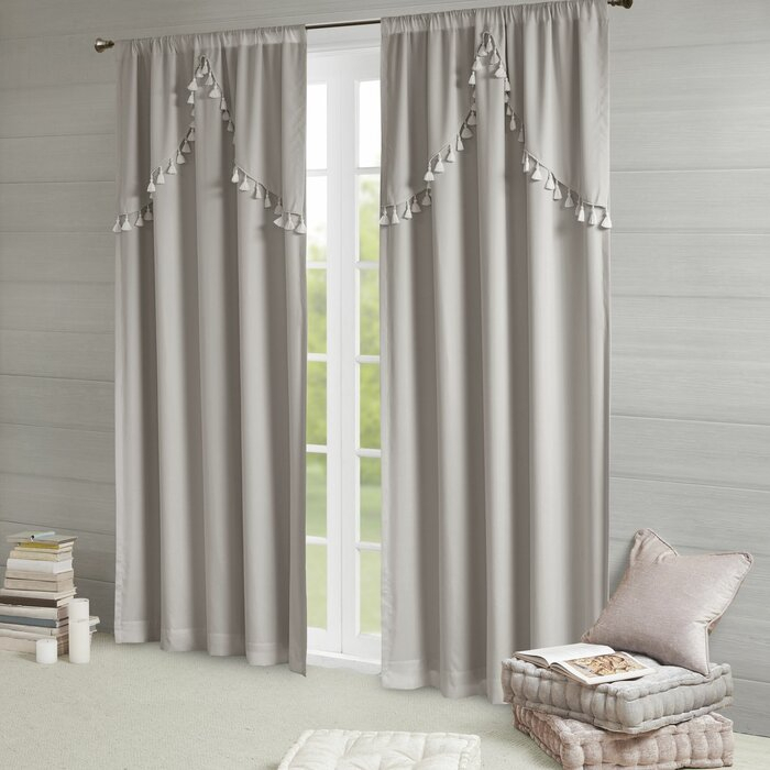 Barclay Solid Blackout Rod Pocket Single Curtain Panel For Solid Cotton True Blackout Curtain Panels (#8 of 50)