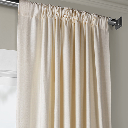 Bark Weave Rod Pocket Pale Ivory 50 X 96 Inch Curtain Single Panel Pertaining To Bark Weave Solid Cotton Curtains (View 6 of 50)