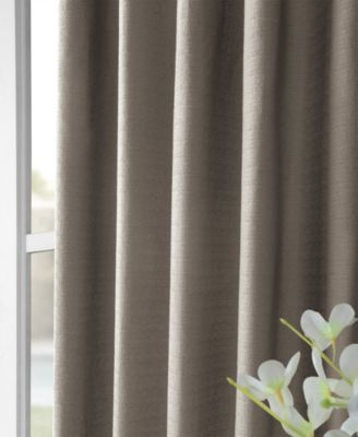 Bark Weave Solid Cotton 50 X 108 Curtain Panel In 2019 With Regard To Solid Cotton Curtain Panels (#7 of 47)