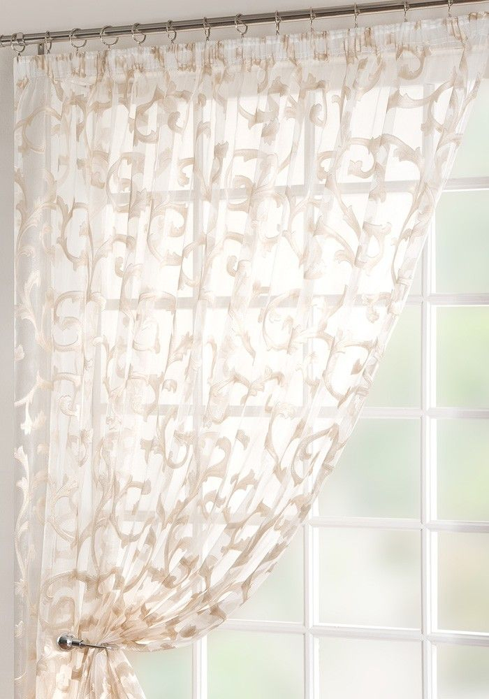 Baroque Customized Voile Panel From Net Curtains Direct With In Laya Fretwork Burnout Sheer Curtain Panels (#5 of 38)