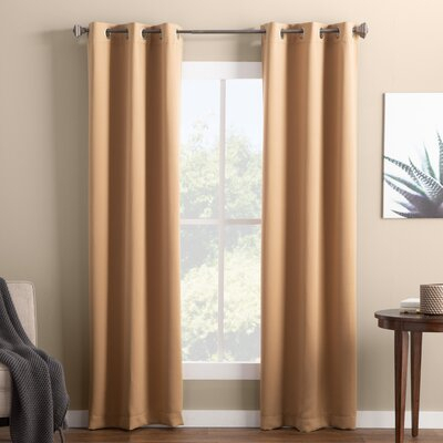 Basics™ Wayfair Basics Solid Blackout Grommet Single Curtain With Hayden Grommet Blackout Single Curtain Panels (View 2 of 39)