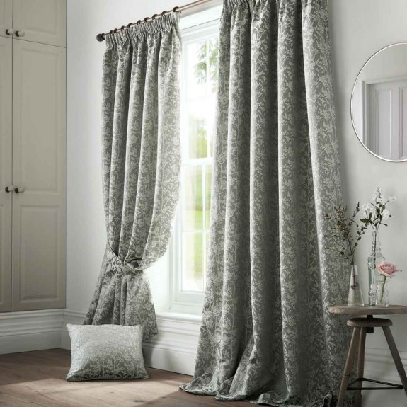 Bayford Seafoam Pencil Pleat Curtains With Regard To Solid Cotton Pleated Curtains (#2 of 50)