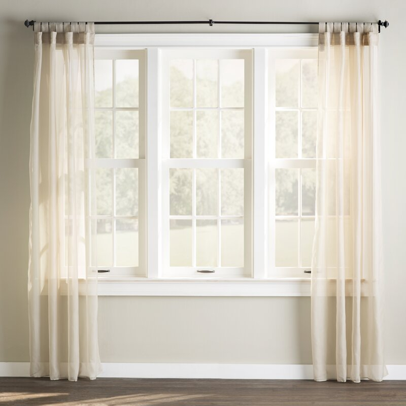 Bayport Appleton Solid Sheer Outdoor Tab Top Single Curtain Panel With Regard To Tab Top Sheer Single Curtain Panels (#4 of 50)