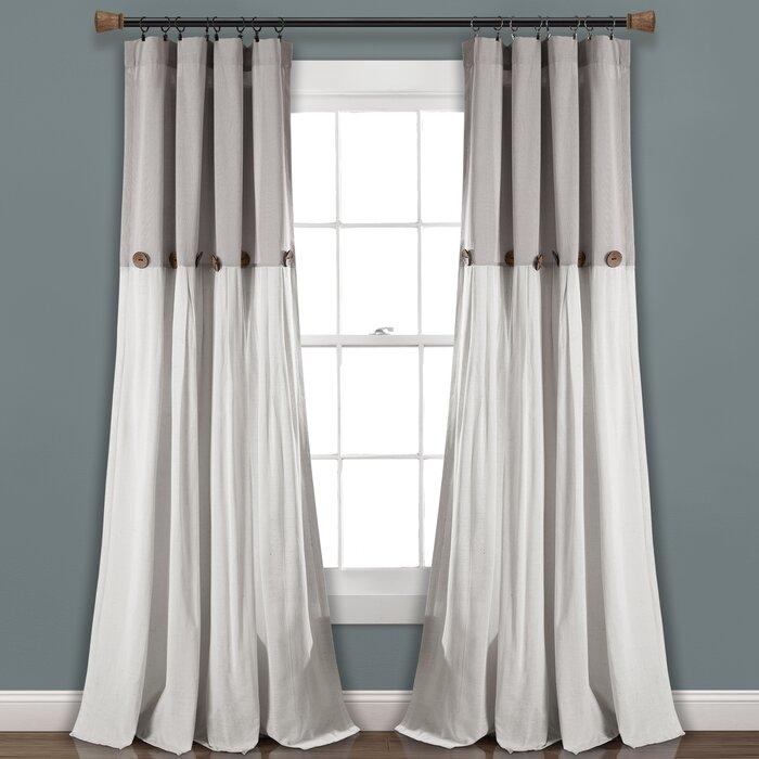 Beckham Window Solid Semi Sheer Rod Pocket Curtain Panels Regarding Rod Pocket Curtain Panels (View 5 of 34)