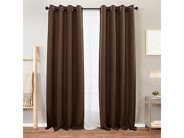 Beige Tier Curtains Bedroom Room Darkening Linen Textured Within Linen Button Window Curtains Single Panel (#5 of 40)