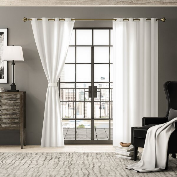 Belgian Flax Linen Curtain | Wayfair With French Linen Lined Curtain Panels (View 4 of 50)