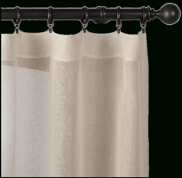 """Belgian Sheer Linen Drapery – Rod Pocket 