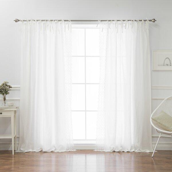 Belgian Snowflake Curtain | Wayfair Pertaining To Belgian Sheer Window Curtain Panel Pairs With Rod Pocket (View 10 of 46)
